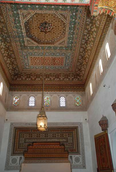 Apartment of Lalla Zineb, wife of Bou Ahmed. Bahia Palace, Marrakesh, Morocco. Islamic/Moroccan style architecture. 19th century.