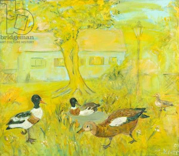 Ducks, 2007 (oil on canvas)