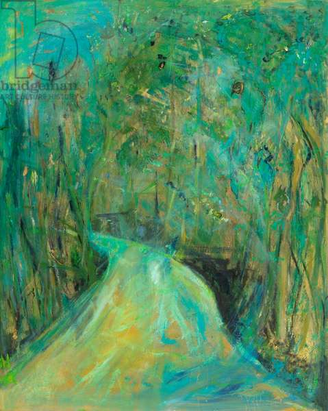 Forest Road, 2011 (mixed media on canvas)