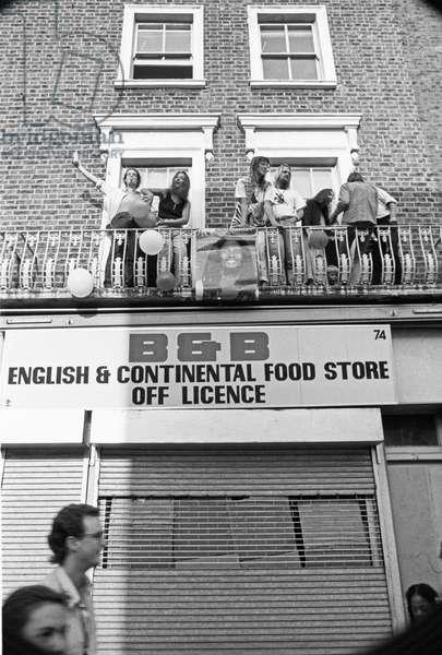 Notting Hill Carny B&B, 1989 (b/w photo)