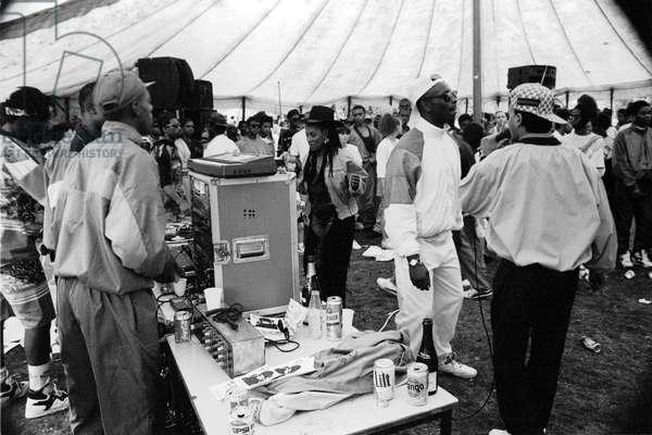 Mosside Hip Hop Battle 2, 1989 (b/w photo)