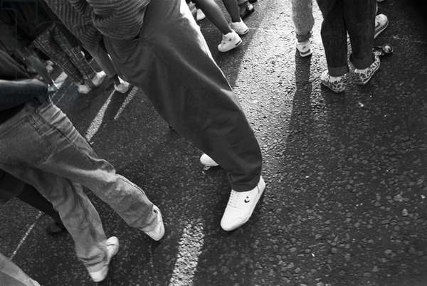 Notting Hill Carny Trainers, 1989 (b/w photo)