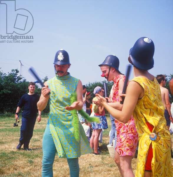 Glastonbury 89 Comedy Coppers, 1989 (photo)