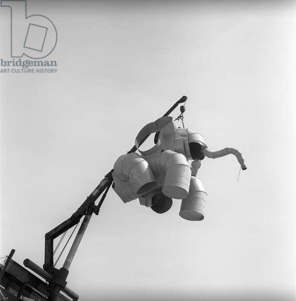Glastonbury 89 Elephant Flying, 1989 (b/w photo)