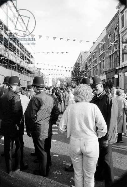Notting Hill Carny BlackCopper, 1989 (b/w photo)