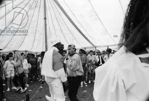 Mosside Hip Hop Battle 4, 1989 (b/w photo)