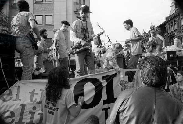 Notting Hill Carny Band, 1989 (b/w photo)