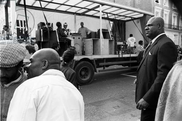 Notting Hill Carny Gent, 1989 (b/w photo)