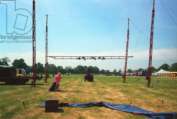 Glastonbury 89 Big Top Half Up, 1989 (photo)