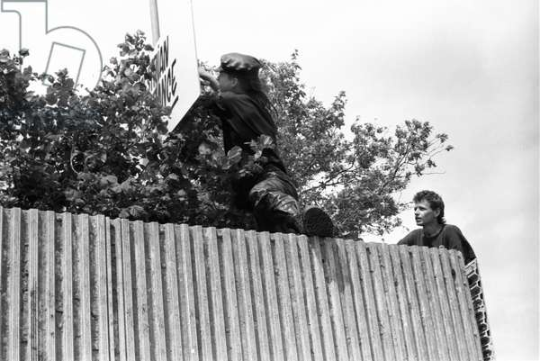 Glastonbury 89 Danny & Stewart, 1989 (b/w photo)
