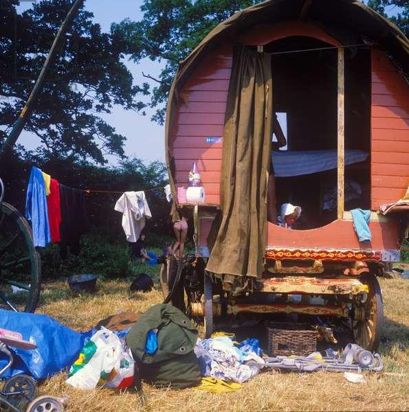 Glastonbury 89 Horsedrawn Camp 1, 1989 (photo)