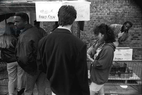 Notting Hill Carnival, 1989 (b/w photo)