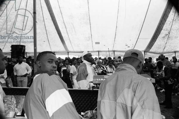 Mosside Hip Hop Battle 3, 1989 (b/w photo)