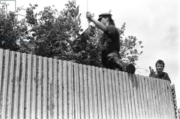 Glastonbury 89 Danny & Stewart 2, 1989 (b/w photo)