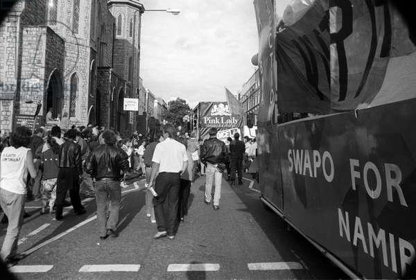 Notting Hill Carny Ledbury Rd, 1989 (b/w photo)