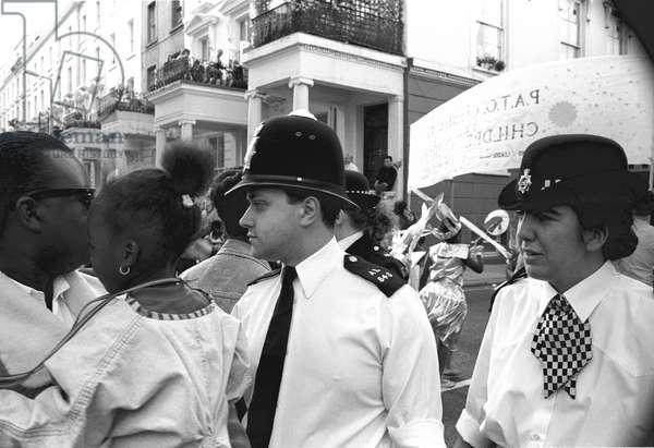 Notting Hill Carny Met 1, 1989 (b/w photo)