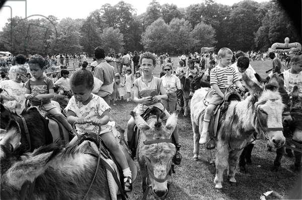Mosside Kids, 1989 (b/w photo)
