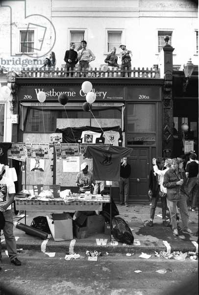 Notting Hill Carny Westbourne Gallery, 1989 (b/w photo)