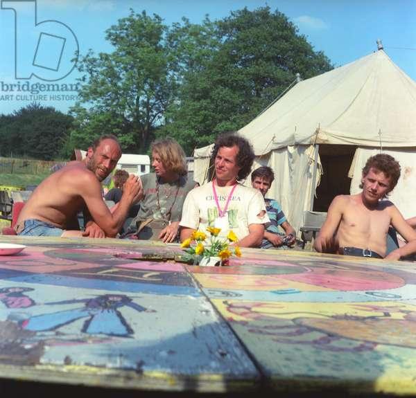 Glastonbury 89 Bill & Stewart Round Table, 1989 (photo)