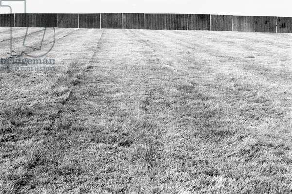Glastonbury 89 Fence, 1989 (b/w photo)