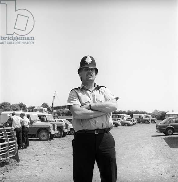 Glastonbury 89 Copper, 1989 (b/w photo)