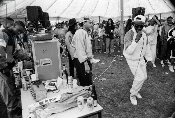 Mosside Hip Hop Battle, 1989 (b/w photo)