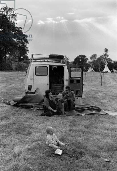 Glastonbury 89 Cloudburst Sunshine, 1989 (b/w photo)