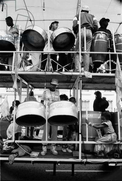 Notting Hill Carny, 1989 (b/w photo)