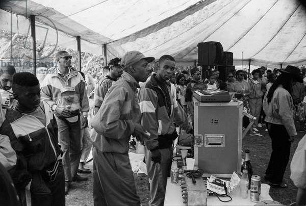 Mosside Hip Hop Battle 1, 1989 (b/w photo)