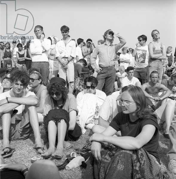 Glastonbury 89 Crowd 1, 1989 (b/w photo)