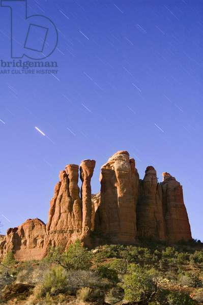 Cathedral Rock, night time sky, 2006 (photo)