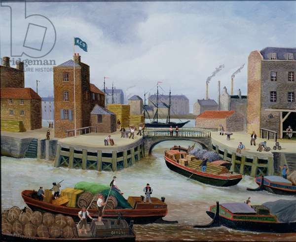 Entrance to Regent's Canal Dock