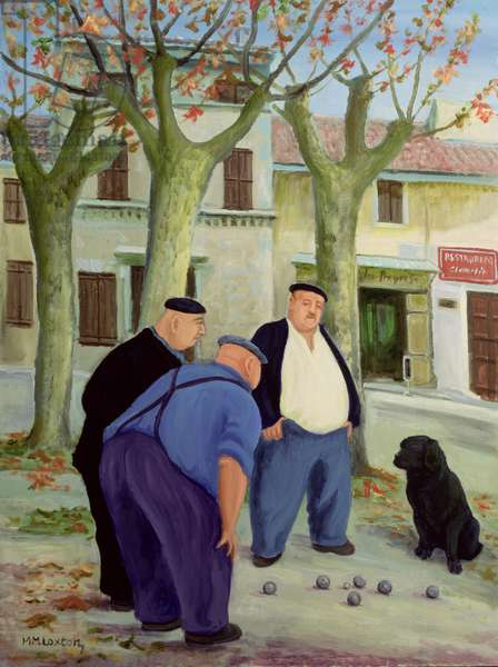 Boules Players (oil on canvas)