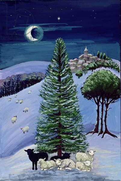 Sheep in a Winter Landscape