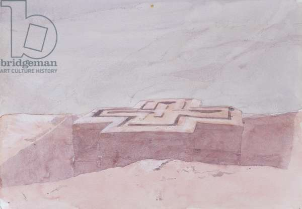 St. George, Lalibela (w/c on paper)