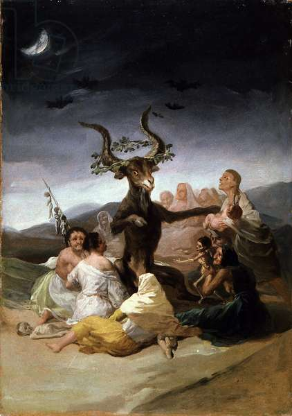 The Witches' Sabbath, 1797-98 (oil on canvas)