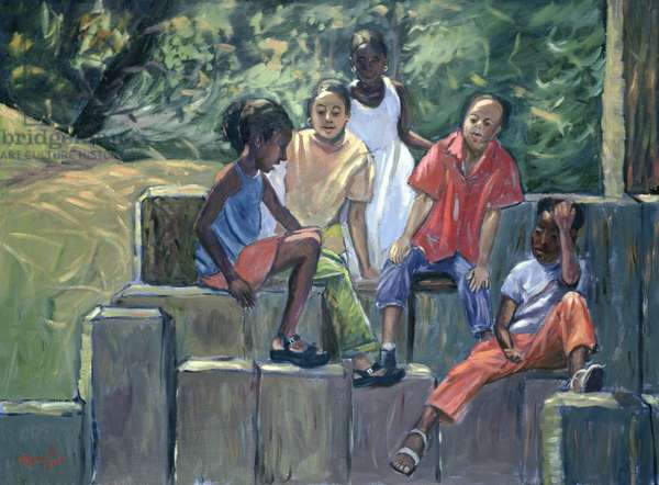 Fun in the Park, 2004 (oil on canvas)