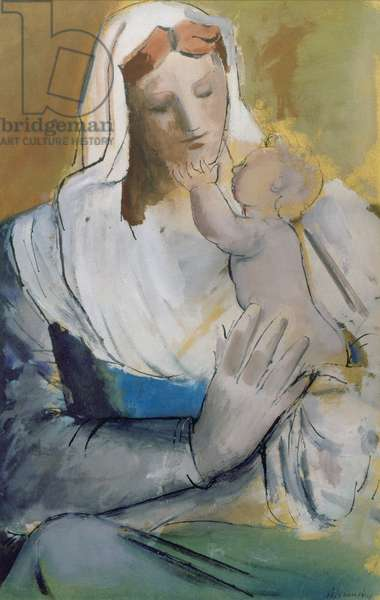 Mother and Child, 1944 (w/c on paper)