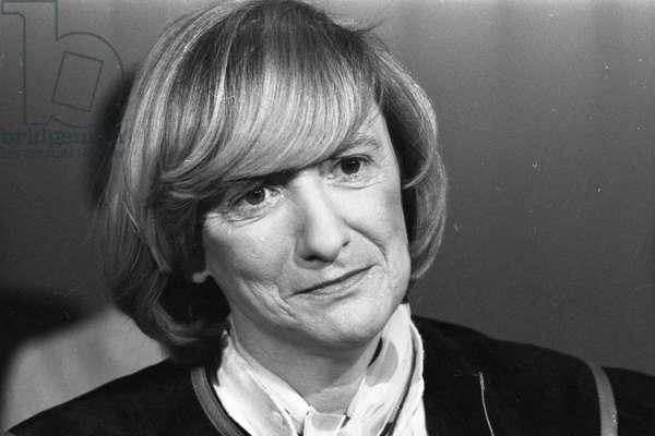 Françoise Sagan, 1983 (b/w photo)