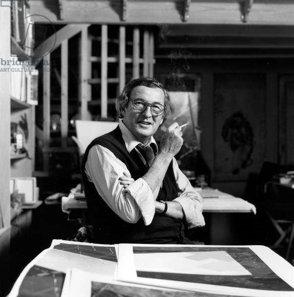 Guy de Rougemont, c.1988 (bw/w photo)
