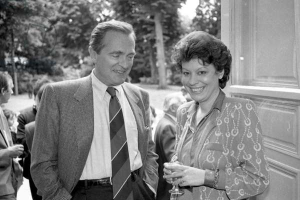 Philippe Labro and Françoise Chandernagor, 1991 (b/w photo)