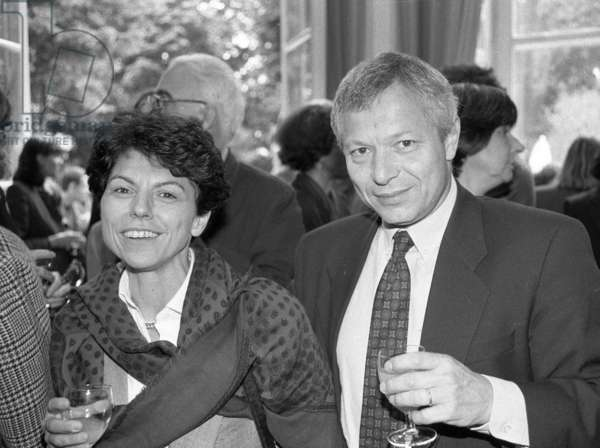 Denis Tillinac and Marie-therese Caloni (b/w photo)