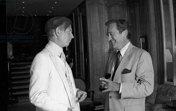 Tom Wolfe and Philippe Labro (b/w photo)