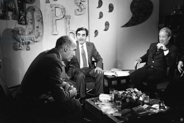 Giscard d'Estaing and Bernard Pivot on TV set Apostrophe, 1979