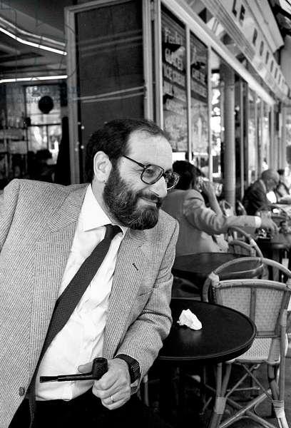 Umberto Eco, Italian writer, c. 1990 in Paris (photo)