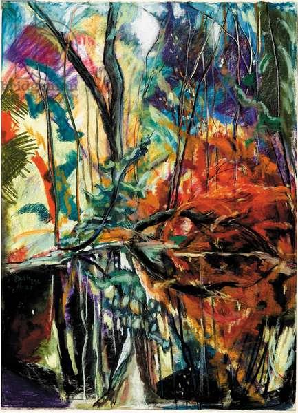 Georgia Swamp, 1996 (oil crayon)