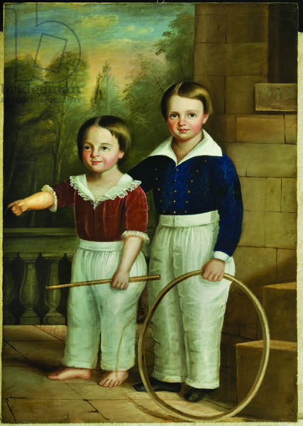 Untitled (portrait of two Alabama children), c.1845 (oil on canvas)