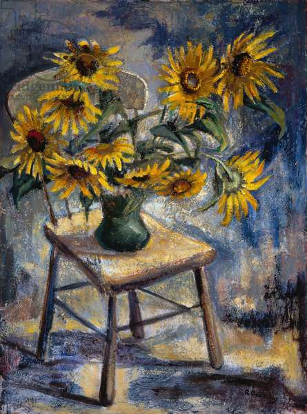 Sunflowers, c.1960 (mixed media on board)