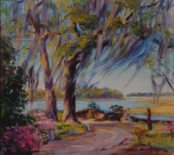 Road to the River Near Savannah (oil on canvas)