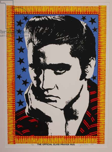The Official Elvis Prayer Rug, 1988 (litho in five colors)